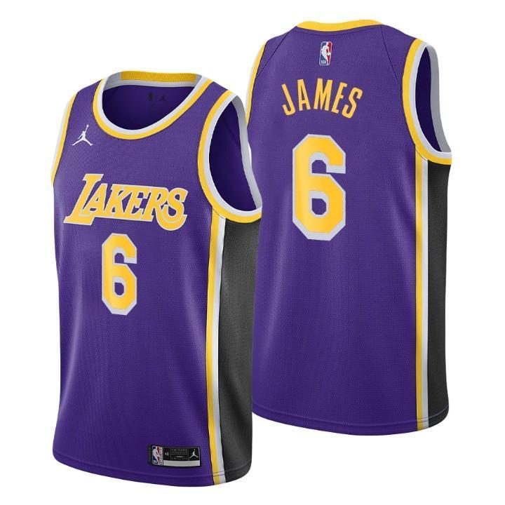 LeBron James No.6 Los Angeles Lakers Jersey (yellow, white, purple)
